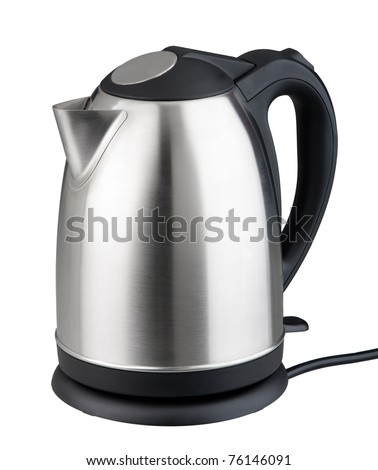 Nice design of modern kettle water boiler for your kitchen an image isolated on white - stock photo