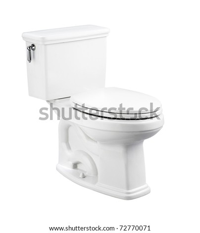 NIce design of the toilet bowl isolated on white background    - stock photo