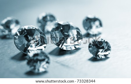 nice diamonds - stock photo