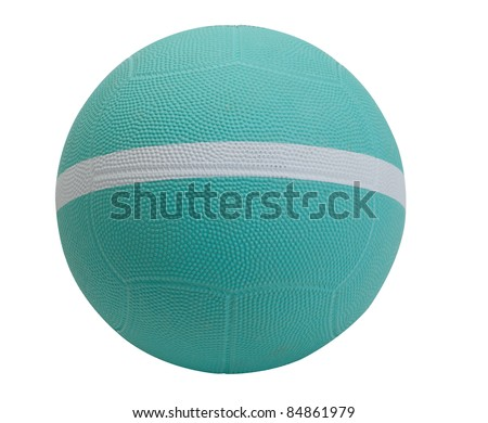 Nice dodgeball with white strip the sport utility ball tool - stock photo
