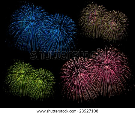 Nice Firework - stock photo