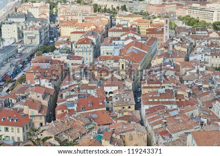 Nice France the Old & New - stock photo
