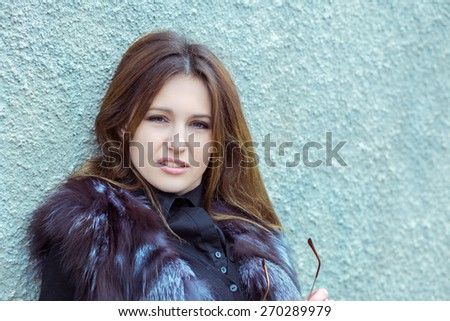 nice girl - stock photo