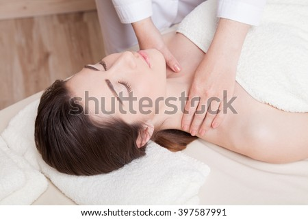 nice girl doing massage in the Spa