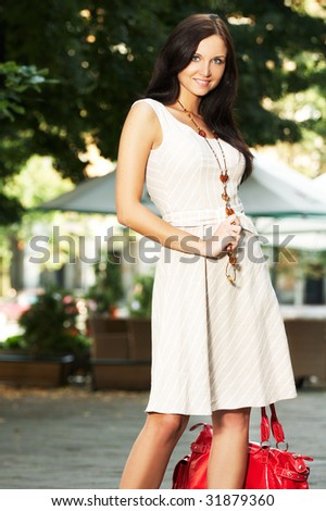 nice girl  - outdoors photography - stock photo
