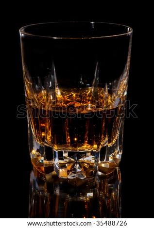 Nice glas scottish whiskey - stock photo