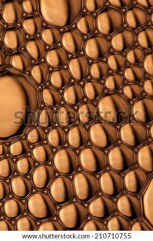 Nice golden surface formed  with brass bubbles - stock photo