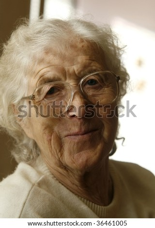 Nice grandmother smiling