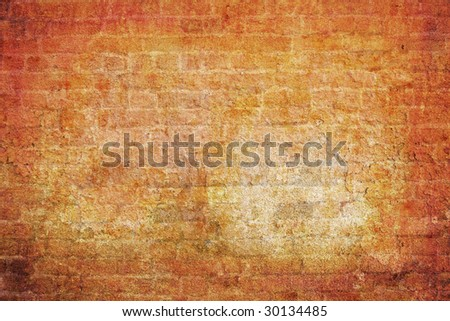 Nice grunge wall with retro look for background.
