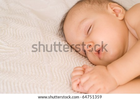 nice happy baby on a white background