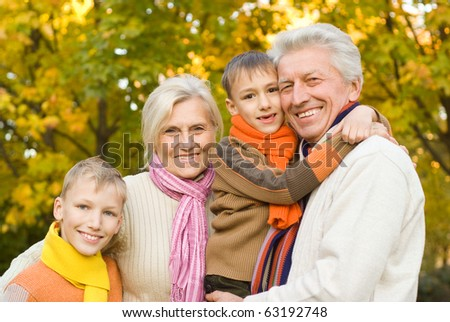 nice happy family  on the nature