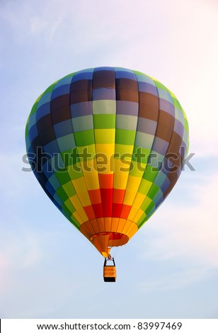 Nice hot air balloon (no people) - stock photo