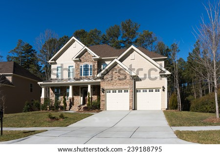 Nice house in Cary, NC - stock photo