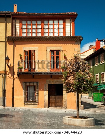 Nice houses in the old town, Spain