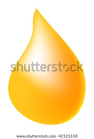 nice illustration of oil drop isolated on background - stock photo