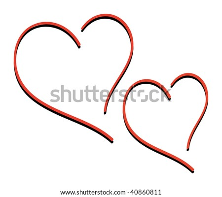 nice illustration of two hearts isolated on white