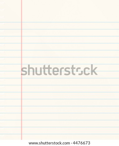 nice image of a book of ruled or lined paper - stock photo