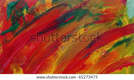 Nice Image of a Original Painting on paper - stock photo