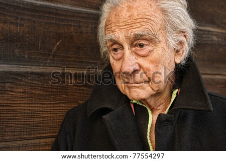 Nice Image of a senior man in contemplation - stock photo