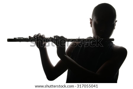 Nice Image of a woman Musician and her flute