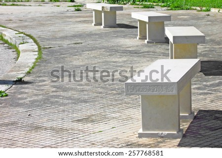 Nice image of benches in a row