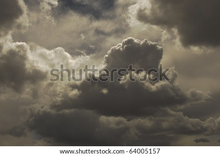 Nice Image of clouds after a storm - stock photo