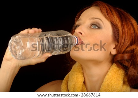 Nice Image of Healthy woman Drinking Water