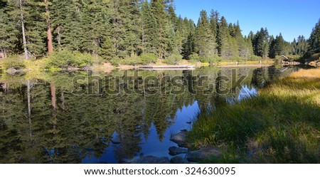 Nice Image Of the truckee River that Feeds lake Tahoe - stock photo
