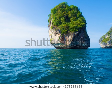 Nice island in Thailand in andaman sea