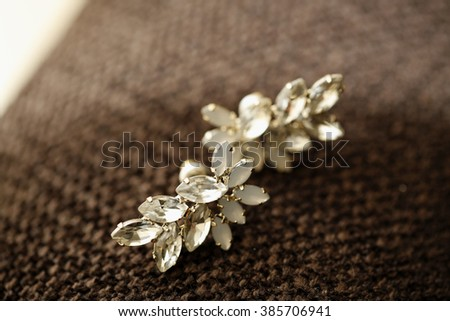 Nice jewelry with gems details - stock photo