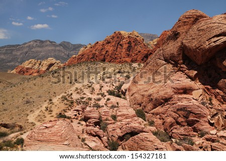 Nice landscape at red rock canyon in Nevada, united states - stock photo