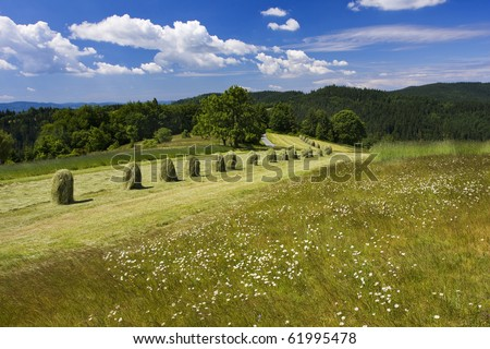 Nice landscape of Beskydy mountains (Czech republic) - stock photo