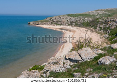 nice landscape with sea coast