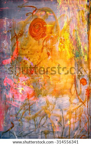 Nice Large scale Image of a Abstract Painting On Canvas - stock photo