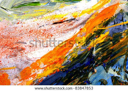 Nice large scale original Oil painting on canvas - stock photo