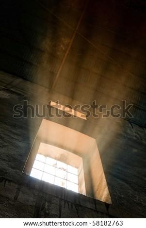 Nice light from window - tinted - stock photo