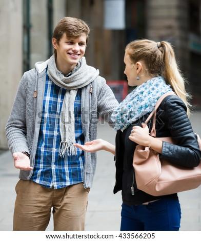 Girl and boy dating