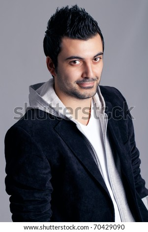 Nice man in a jacket - stock photo