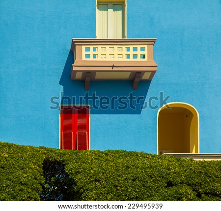 Nice mediterranean house facades  - stock photo