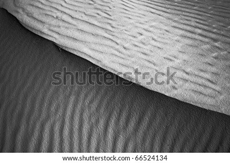 Nice Monochrome Image of the patterns of Sand dunes