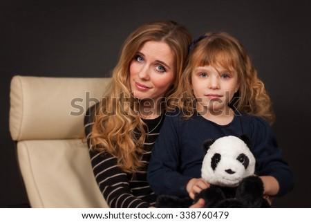 nice mother and daughter  - stock photo