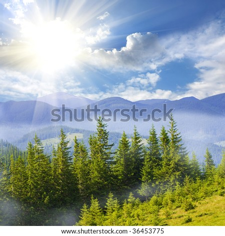 Nice mountain landscape