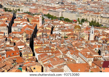 Nice old town, French Riviera, France - stock photo