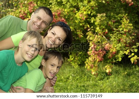 nice parents and boys in the park