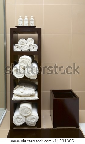 Nice part of a bathroom - stock photo