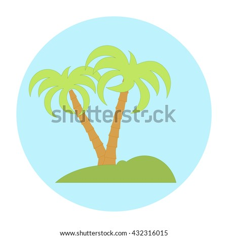 Nice picture of island with palm trees