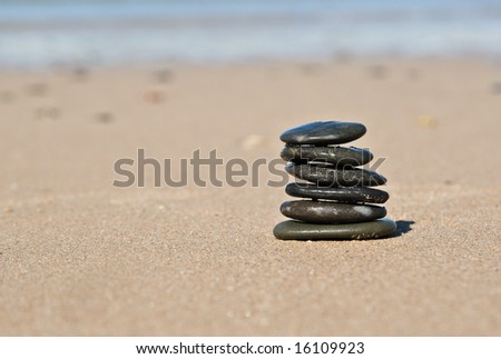 nice pile of stones on the beach