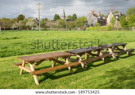 Nice place for a picnic, Beuvron en Auge, Normandy, France