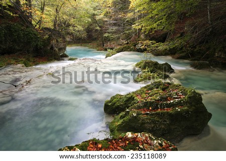 Nice place on the river - stock photo