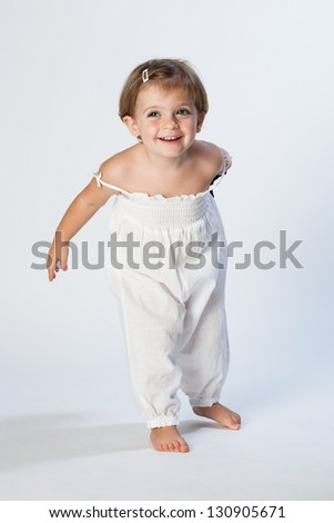 Nice portrait of a little girl. - stock photo